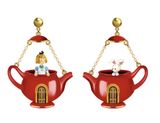 N2 - AMAL103 ALICE AND WHITE RABBIT IN A TEAPOT ASYMMETRICAL STUD EARRINGS