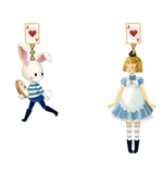 N2 - AMAL111 ALICE AND THE WHITE RABBIT ASYMMETRICAL CLIP-ON EARRINGS