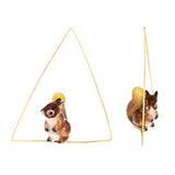NB - Squirrel Triangle Earring