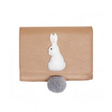 NB - Light pink clutch bag with white rabbit