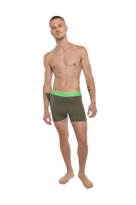 Performance Yoga Leggings - Short (Olive Green)