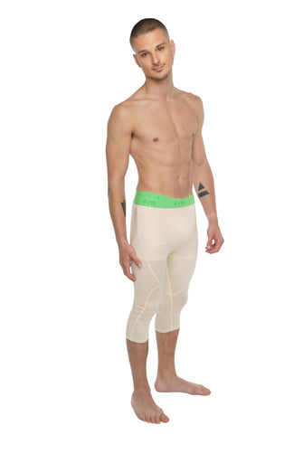 Performance Yoga Leggings - 3/4 (Sand Beige)