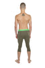 Performance Yoga Leggings - 3/4 (Olive Green)
