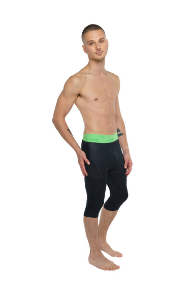 Performance Yoga Leggings - 3/4 (Carbon Black)