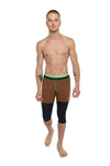 Transition Yoga Short (Chocolate w/Black & Green)