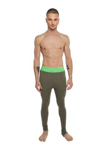 Performance Yoga Leggings - Long (Olive Green)