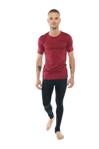 Perfect Pocket Crew-Neck Tee (Brick Red Heather) Mens Tops 4-rth
