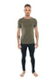 Perfect Pocket Crew-Neck Tee (Olive Green)