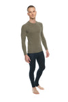 Designer Raglan Crew-Neck Tee - Long Sleeve (Olive Green)