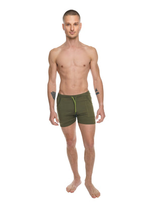 Transition Yoga Short (Army Green)
