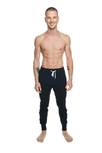 **Winter Edition** LUXURY-Fleece Long Cuffed Jogger & Yoga Sweat Pants (Black)