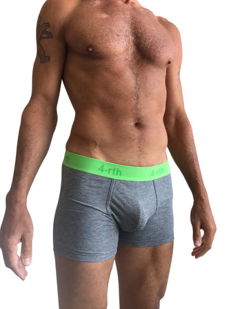 Zen Boxer Brief (Steel Heather Grey)