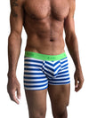 Zen Boxer Brief (Nautical Blue Stripe)