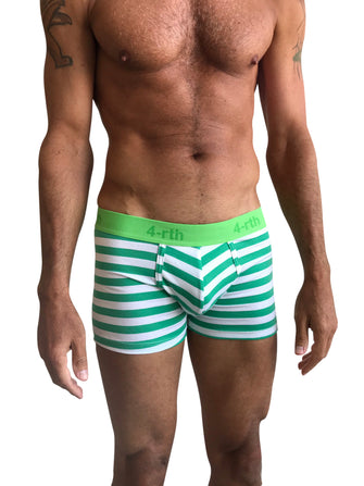 Zen Boxer Brief (Nautical Green Stripe)