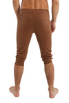 Cuffed Yoga Pants (Solid Chocolate)