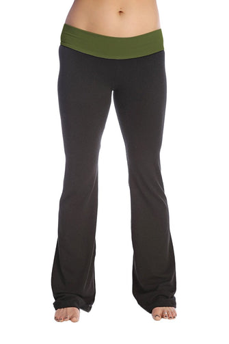 Classic Yoga Pant Womens Pants 4-rth Small Forest Green