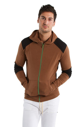 Crossover Hoodie (Chocolate w/Black) Mens Hoodies 4-rth