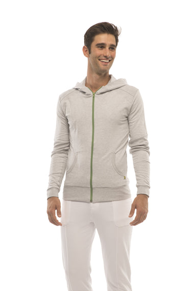 Crossover Hoodie (Heather Gray) Mens Hoodies 4-rth