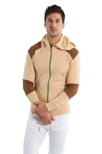 Crossover Hoodie (Sand w/Chocolate) Mens Hoodies 4-rth