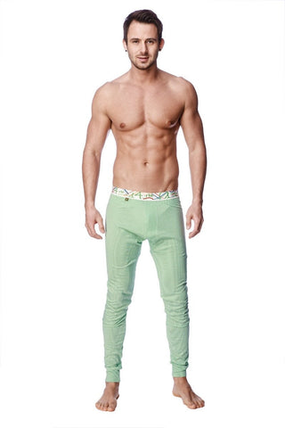 Crosstrain Thermal Yoga Pant (Green & White Stripe) Mens Pants 4-rth