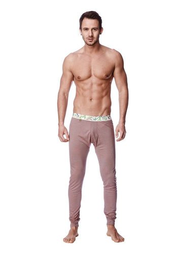 Crosstrain Thermal Yoga Pant (Red & Grey Stripe) Mens Pants 4-rth