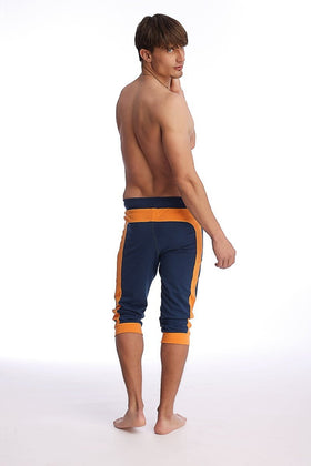 Cuffed Yoga Pants (Royal Blue & Orange) Cuffed Pants 4-rth