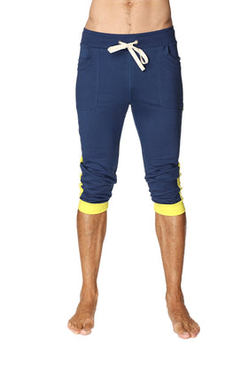 Cuffed Yoga Pants (Royal Blue & Yellow) Cuffed Pants 4-rth