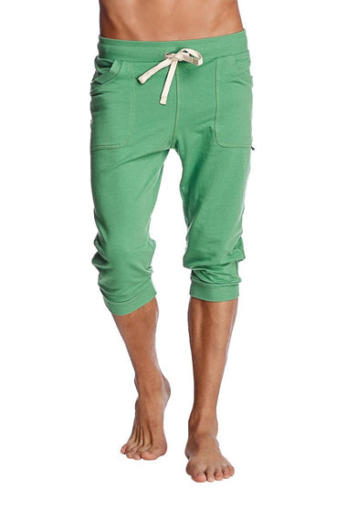 Cuffed Yoga Pants (Solid Bamboo Green) Cuffed Pants 4-rth