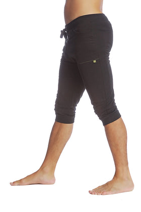 Cuffed Yoga Pants (Solid Black) Cuffed Pants 4-rth
