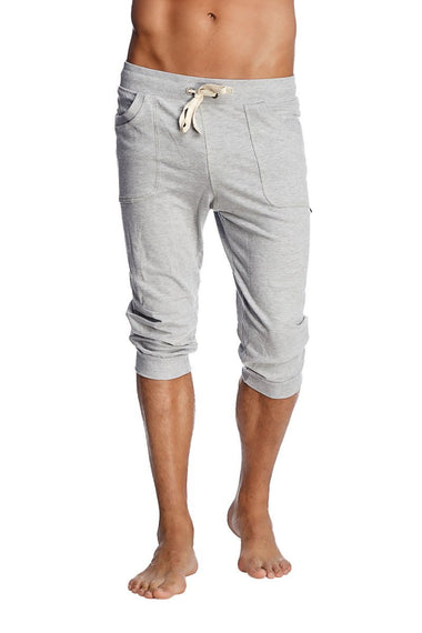 Cuffed Yoga Pants (Solid Heather Grey) Cuffed Pants 4-rth