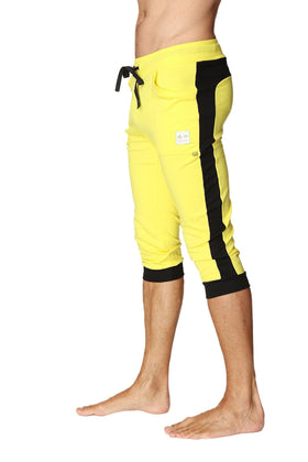 Cuffed Yoga Pants (Tropic Yellow w/Black) Cuffed Pants 4-rth
