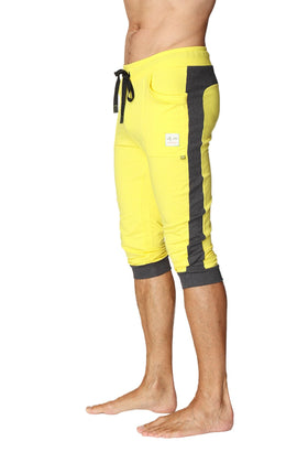 Cuffed Yoga Pants (Tropic Yellow w/Charcoal) Cuffed Pants 4-rth