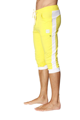 Cuffed Yoga Pants (Tropic Yellow w/White) Cuffed Pants 4-rth