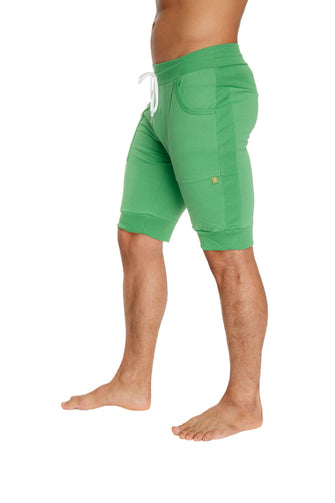 Cuffed Yoga Short (Bamboo Green) Mens Shorts 4-rth