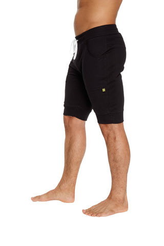 Cuffed Yoga Short (Black) Mens Shorts 4-rth