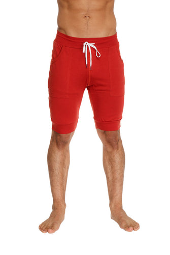 Cuffed Yoga Short (Cinnabar) Mens Shorts 4-rth