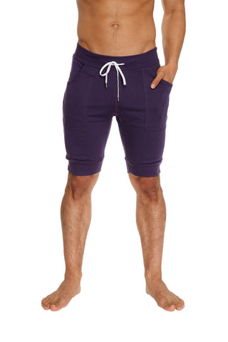 Cuffed Yoga Short (Eggplant Purple) Mens Shorts 4-rth