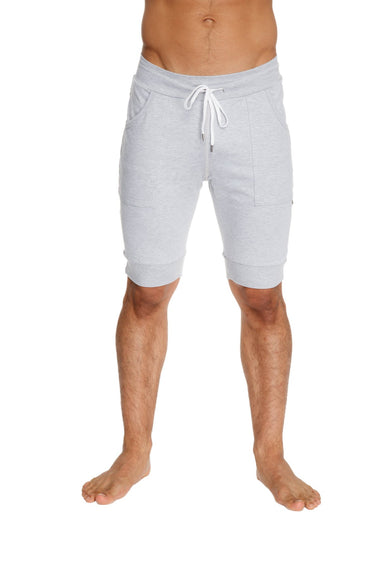 Cuffed Yoga Short (Heather Grey) Mens Shorts 4-rth