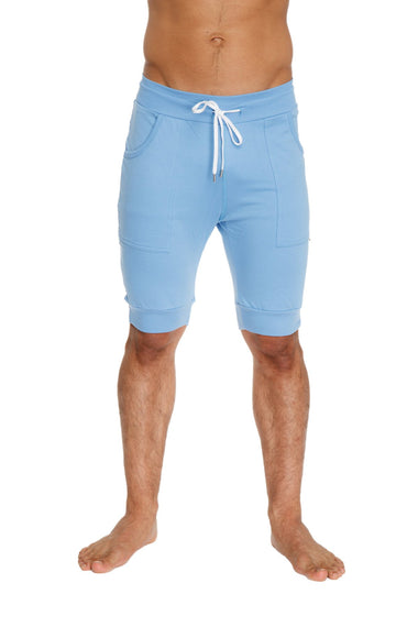 Cuffed Yoga Short (Ice Blue) Mens Shorts 4-rth