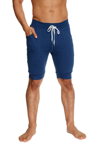 Cuffed Yoga Short (Royal Blue) Mens Shorts 4-rth