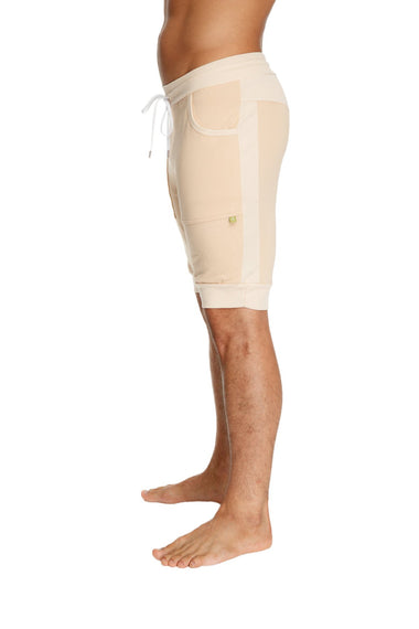 Cuffed Yoga Short (Sand Beige) Mens Shorts 4-rth