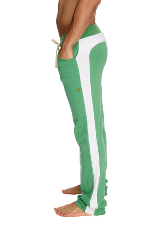 Eco-Track Pant (Bamboo Green w/White) Mens Pants 4-rth