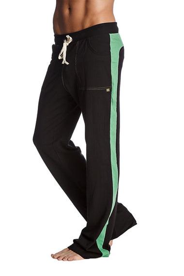 Eco-Track Pant (Black w/Bamboo Green) Mens Pants 4-rth