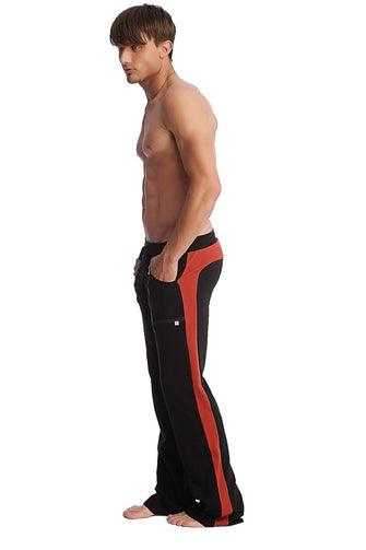 Eco-Track Pant (Black w/Cinnabar) Mens Pants 4-rth