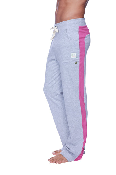 Eco-Track Pant (Heather Grey w/Berry) Mens Pants 4-rth
