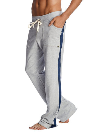Eco-Track Pant (Heather Grey w/Blue) Mens Pants 4-rth