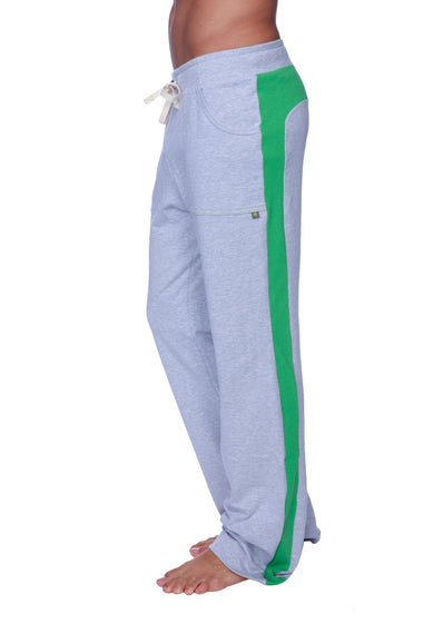 Eco-Track Pant (Heather Grey w/Green) Mens Pants 4-rth