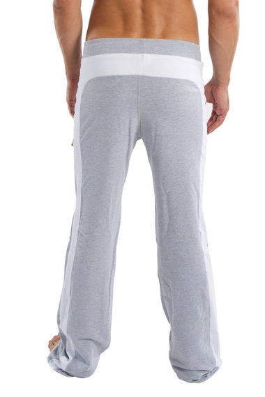 Eco-Track Pant (Heather Grey w/White) Mens Pants 4-rth