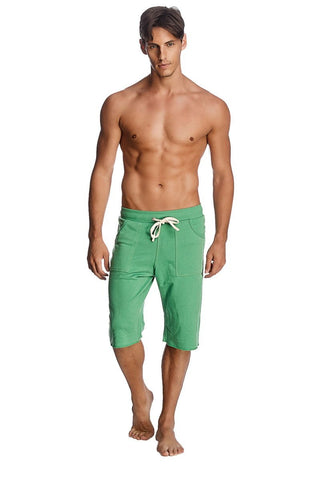 Eco-Track Short (Bamboo Green w White) Mens Shorts 4-rth