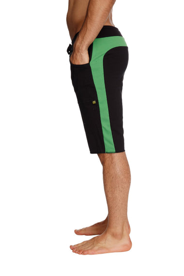 Eco-Track Short (Black w/Bamboo Green) Mens Shorts 4-rth